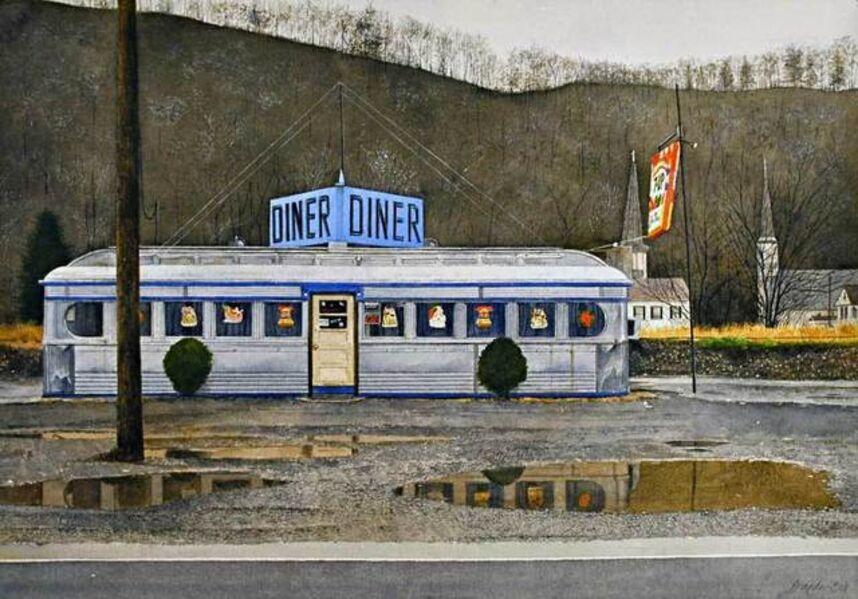 John Baeder, 'Jim's Diner', 2008