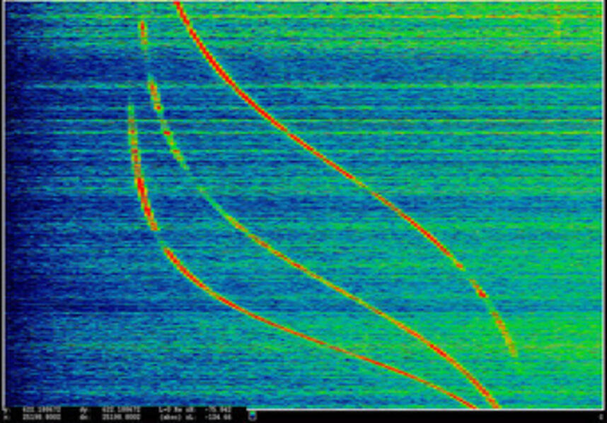 Laura Poitras, 'ANARCHIST: Data Feed with Doppler Tracks from a Satellite (Intercepted May 27, 2009)', 2016