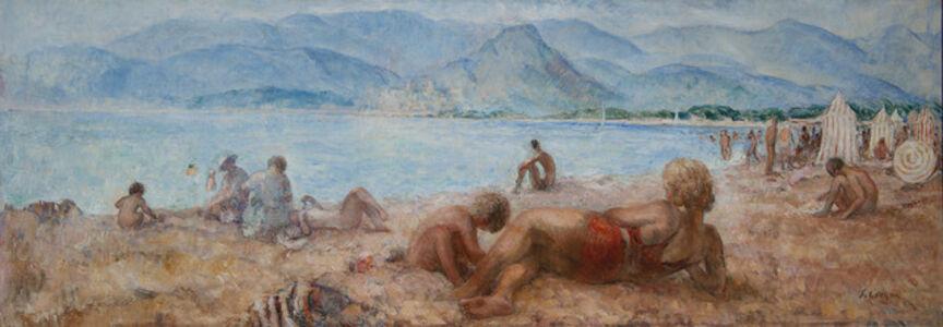Henri Lebasque, 'Baigneurs sur la plage de Cagnes-sur-Mer', 1928-1929