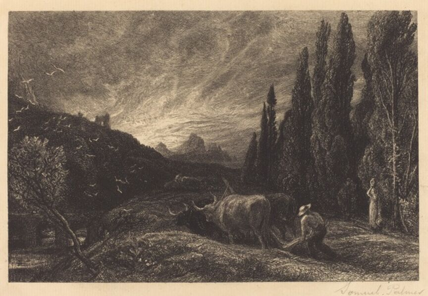 Samuel Palmer, 'The Early Ploughman', in or before 1861