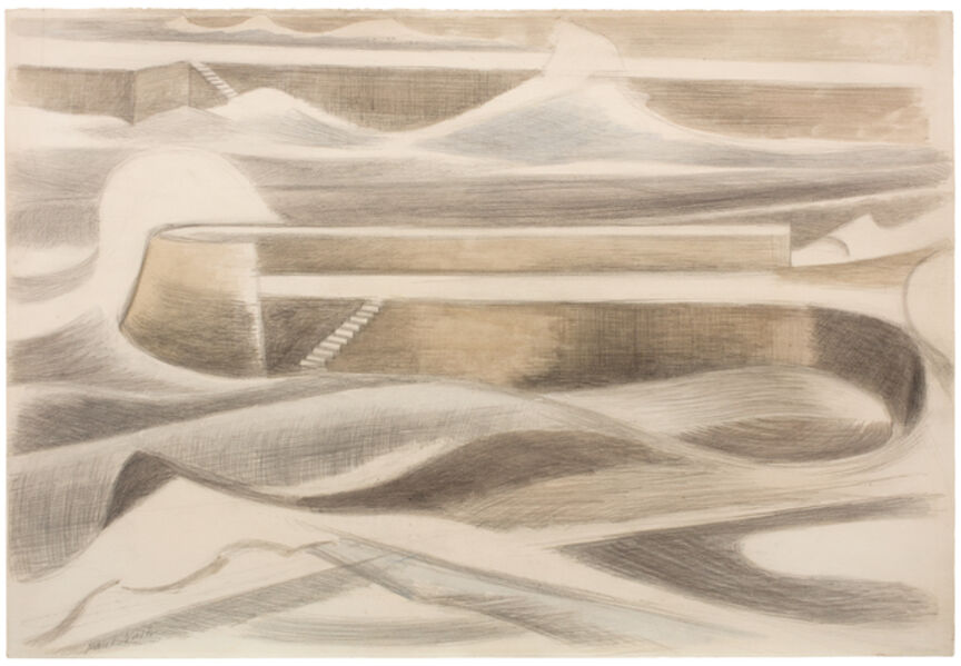 Paul Nash, 'Sea Wall', 1935