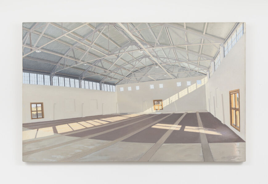 Rackstraw Downes, 'The Arena, Chinati, 9A.M., Looking North', 1999