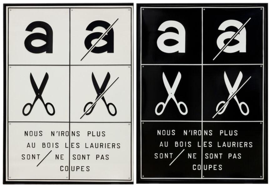 Marcel Broodthaers, 'Nous n'irons plus au bois...', 1972