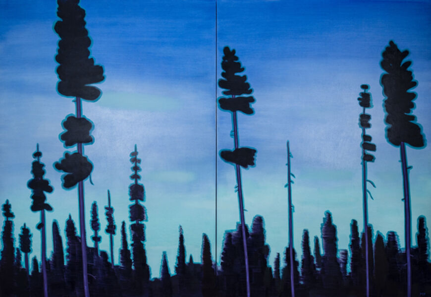 Mike Piggott, 'Purple Pines', 2018