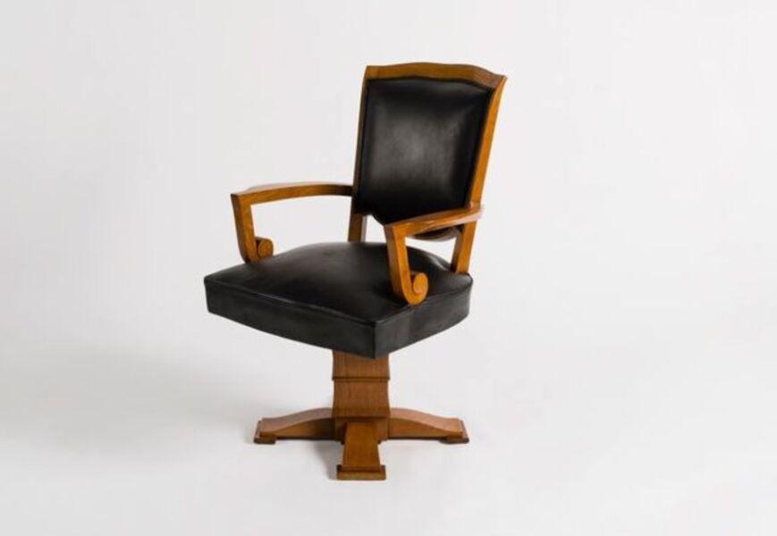 Jules Leleu, 'Swivel Desk Armchair', ca. France-circa 1946