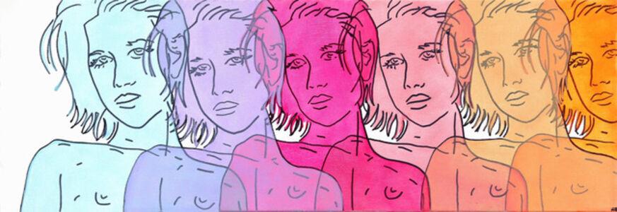 Hilary Bond, 'Blue, Purple, Magenta, Pink, Peach, Orange', 2014