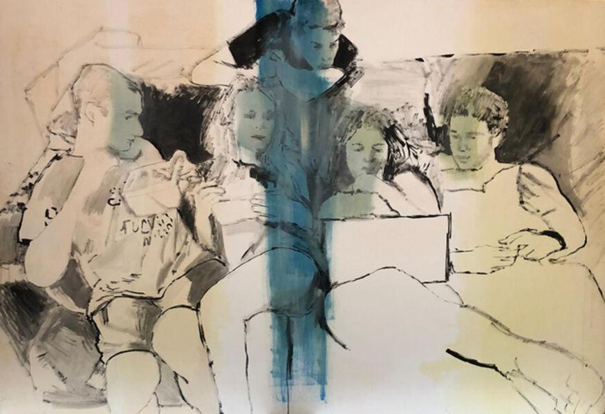 Miltos Manetas, 'New groups (young Greeks)', 2019