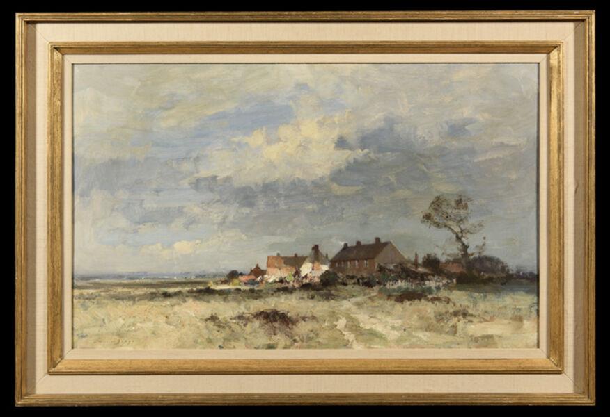 Edward Seago, 'Marshland Village', ca. 1940