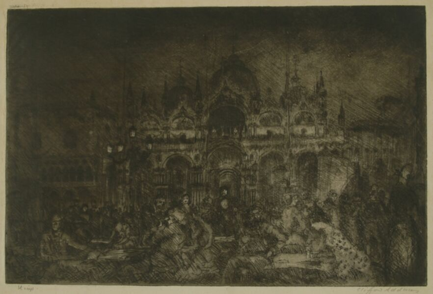 Clifford Isaac Addams, 'Nocturne, St Mark's, Venice', ca. 1914