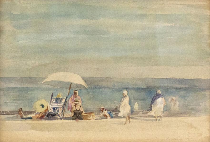 David Levine, 'Summer: bathers at Compo Beach', 1959