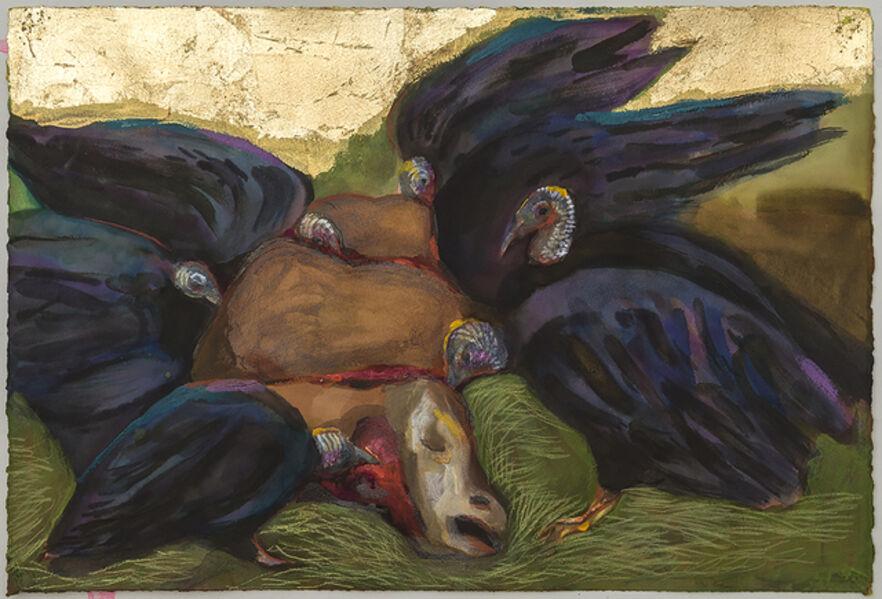 Karen Heagle, 'Eight Vultures and a Carcass', 2018