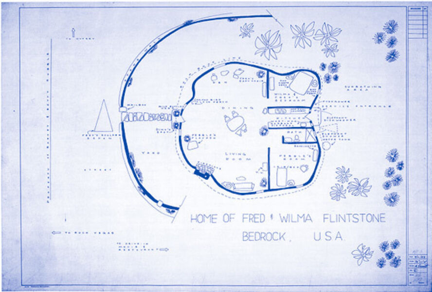 Mark Bennett, 'The Home of Fred & Wilma Flintstone', 1997