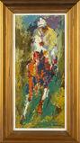 Original Signed Oil Painting Horse & Jockey, 48K Appraisal