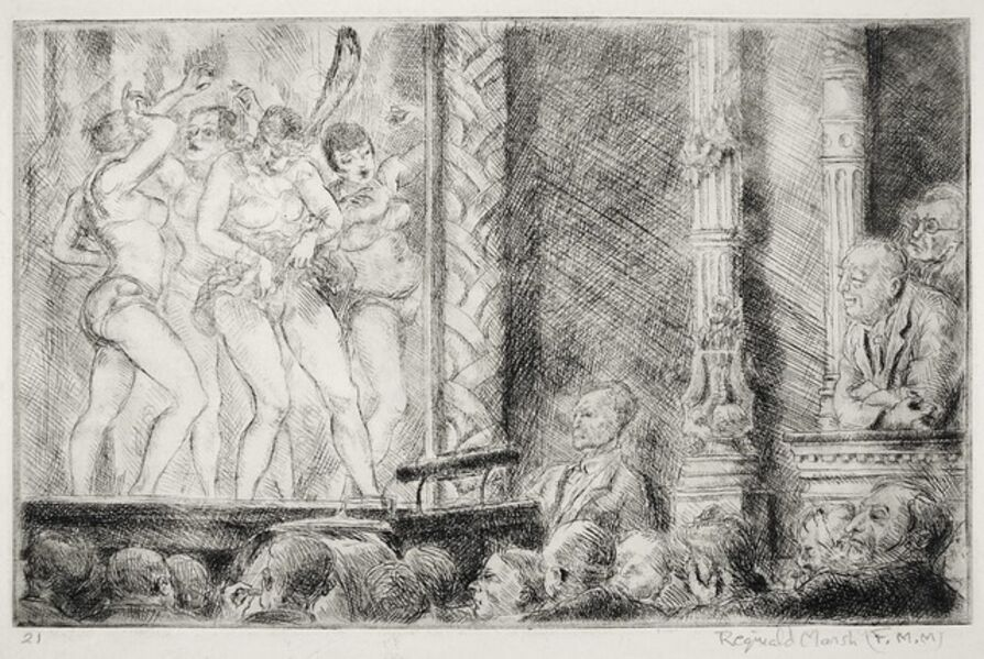 Reginald Marsh, 'Irving Place Burlesque (#2) - Proof Impression', 1928