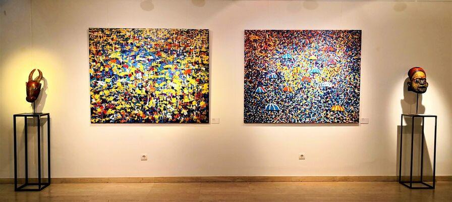 Vibrant colours, installation view