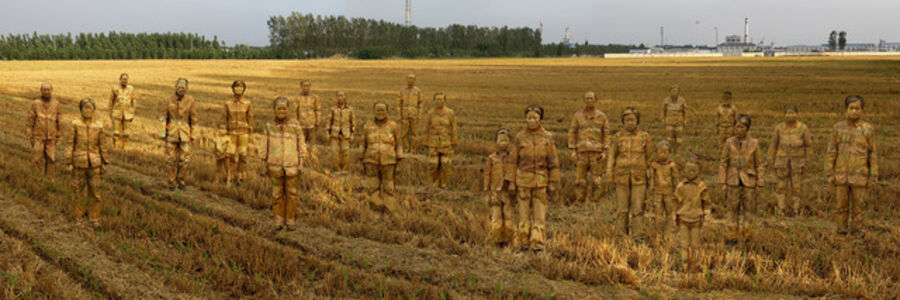Liu Bolin, 'Targe - The Village', 2014