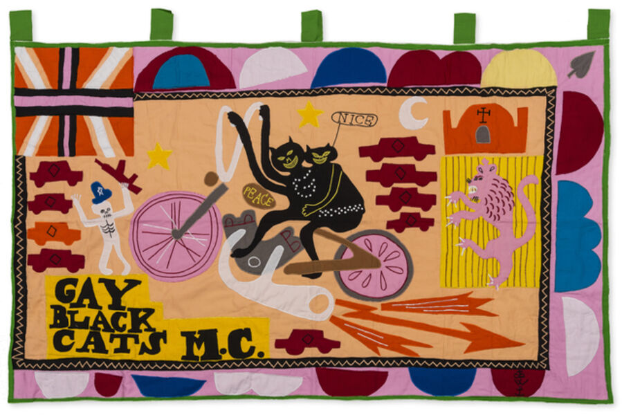 Grayson Perry, 'Gay Black Cats MC', 2017