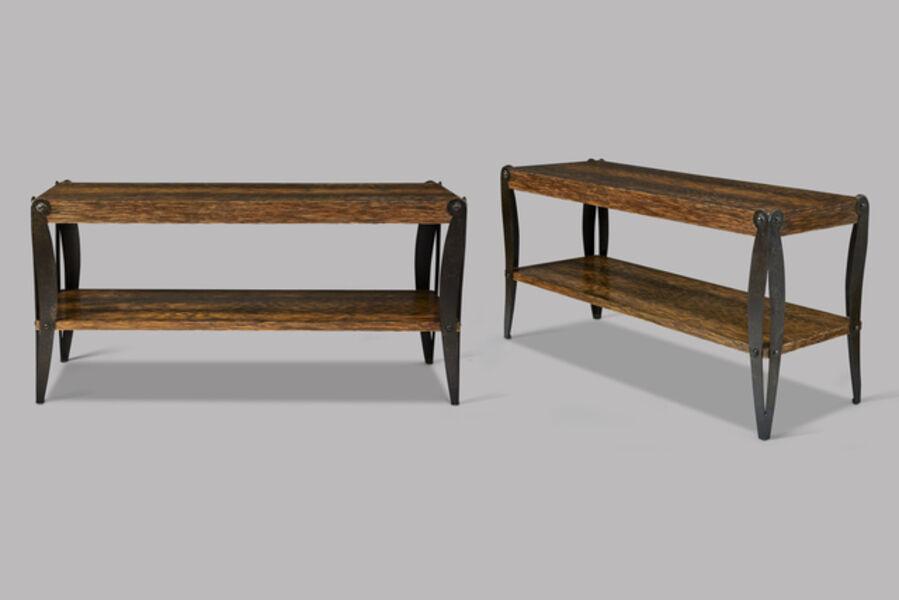 Eugène Printz, 'Pair of low rectangular tables', ca. 1925