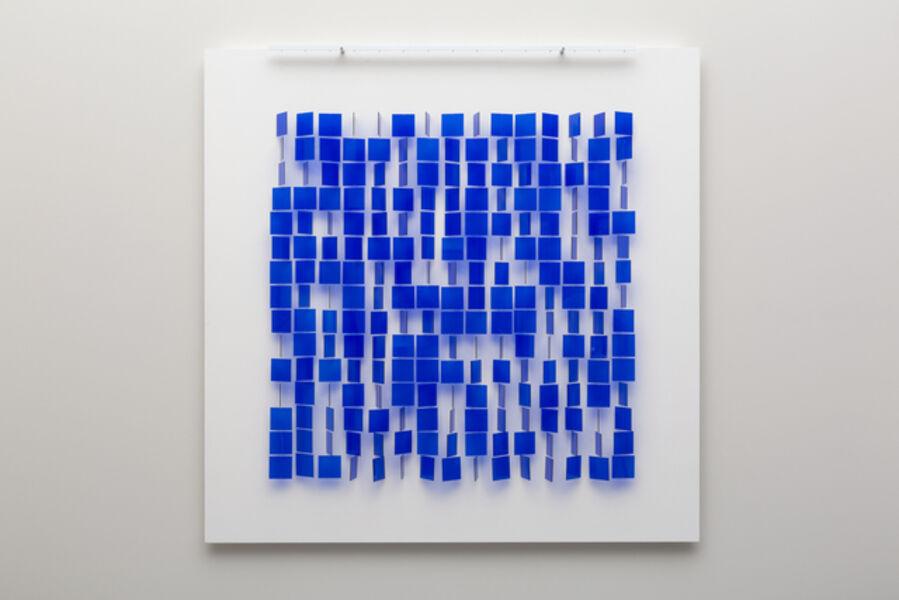 Julio Le Parc, 'Mobile bleu sur blanc', 1960