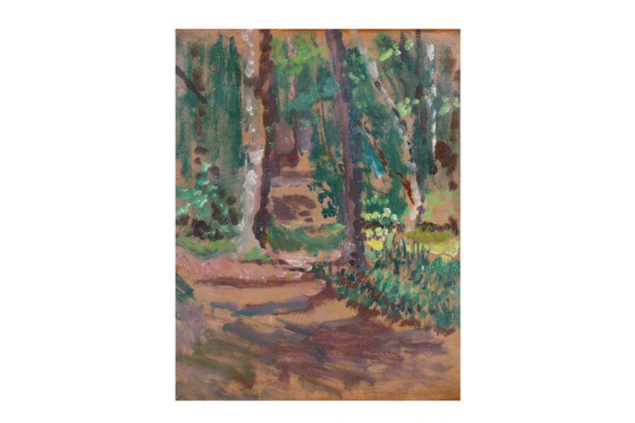Walter Richard Sickert, 'A wooded landscape, near Dieppe'