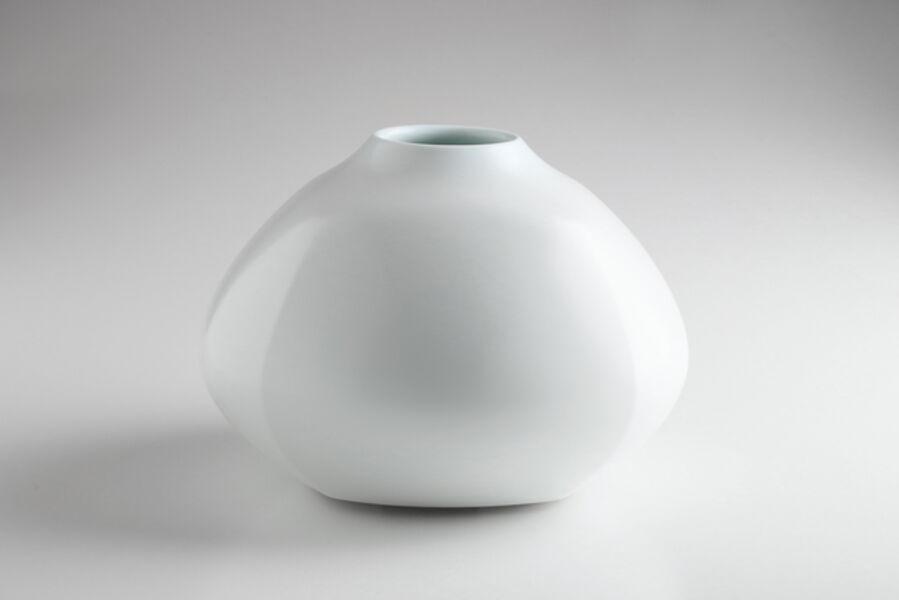 Maeta Akihiro, 'White Porcelain Faceted Jar', 2016