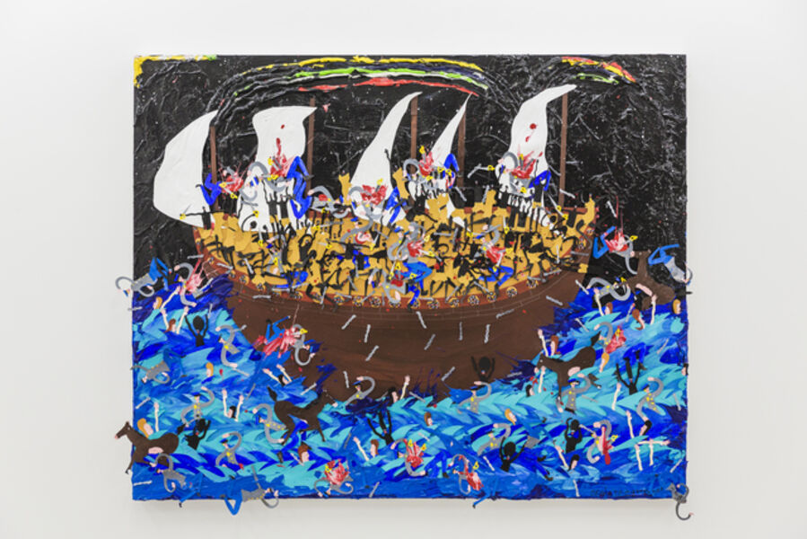 Devin Troy Strother, 'It's sink or swim nigga, and you know I can barely dog paddle, so it's down with the ship we go. (It's gonna be a bumpy ride to the Mericas)', 2018