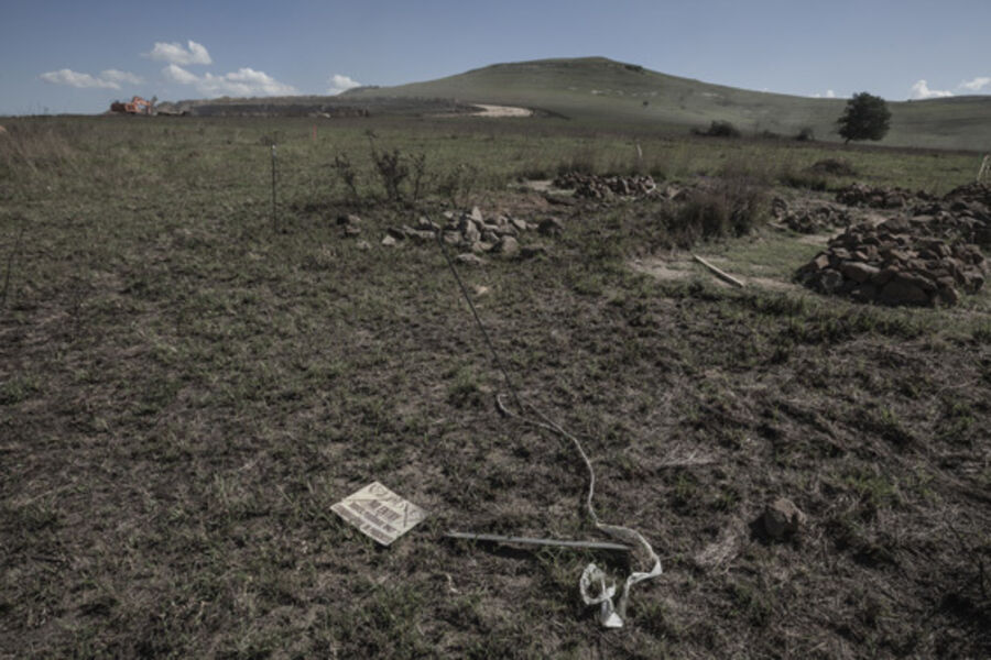 Santu Mofokeng, 'Driefontein graves, exhumation in progress', 2012