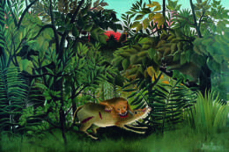 Henri Rousseau, 'Le lion, ayant faim, se jette sur l'antilope (The Hungry Lion Attacking an Antelope)', 1898/1905