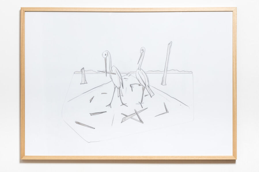 Pál Gerber, 'Storks littering with their beaks ', 2005