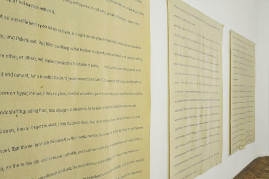 Mary Ellen Carroll, 'A Modest Proposal/ A Modist Prepozel', 1991