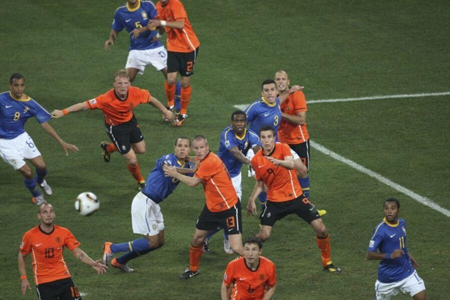 Mark Leech, 'World Cup, Netherlands vs. Brazil July 2', 2010