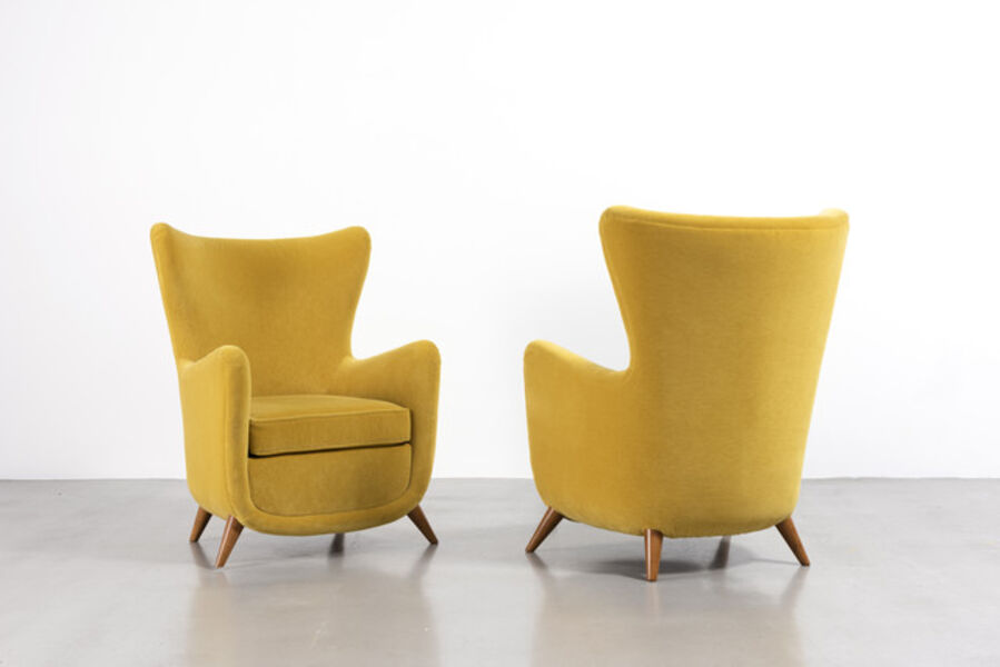 Jean Royère, 'Pair of Elephanteau armchairs', ca. 1950