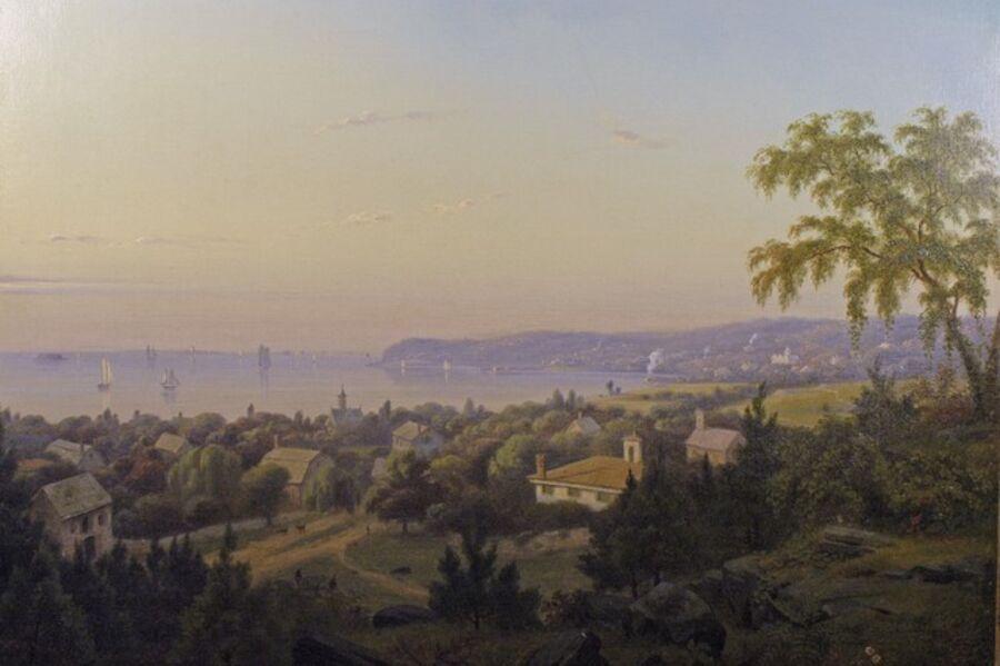 Mauritz Frederik Hendrik de Haas, 'The Narrows Looking Towards NYC', 1853