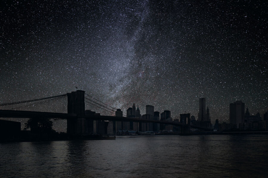 Thierry Cohen, 'New York 40° 42' 16'' N 2010-10-9 Lst 3:40  ', 2012
