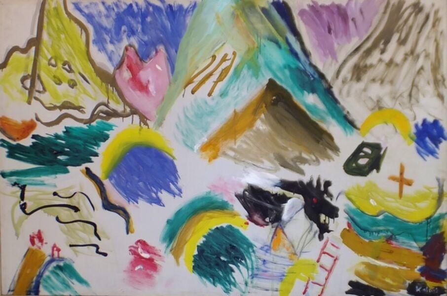 Aristodimos Kaldis, 'Tri-colored Mountains', 1968