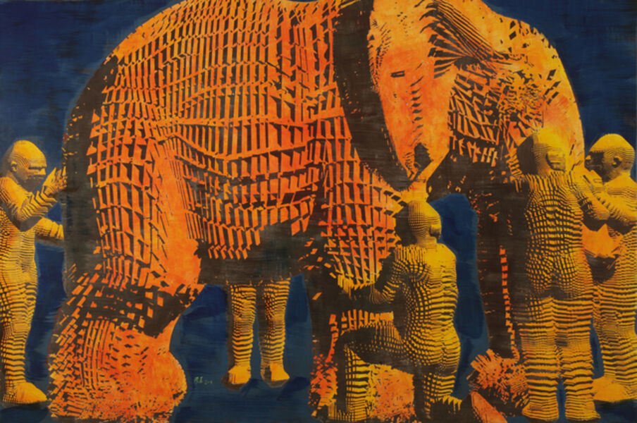 Miao Xiaochun 缪晓春, 'Blind Men and An Elephant (left)', 2016