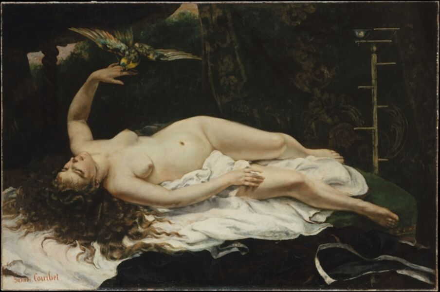 Gustave Courbet, 'Woman with a Parrot', 1866
