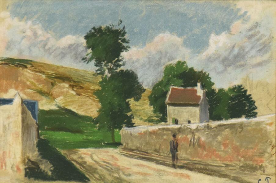 Camille Pissarro, 'Une Rue à l'Hermitage, Pontoise', ca. 1873-78