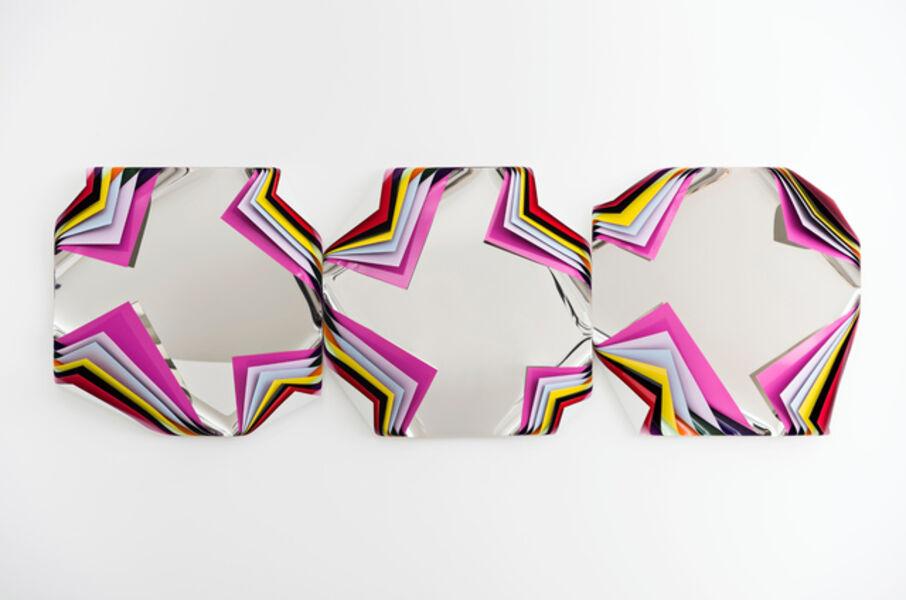 Jim Lambie, 'Metal Box (Wild Orchid)', 2019