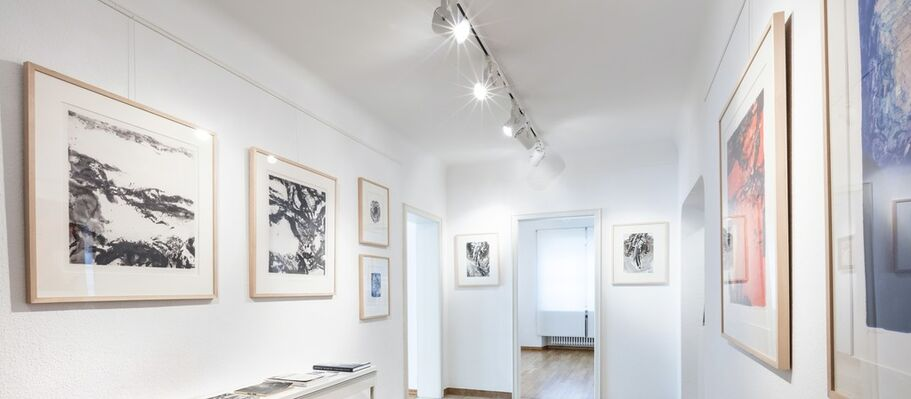 Arthur Unger, Theo Kerg & Zao Wou-Ki: Of Ink & Color, installation view