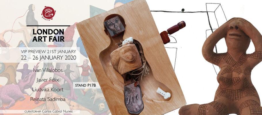 Perve Galeria at London Art Fair 2020, installation view