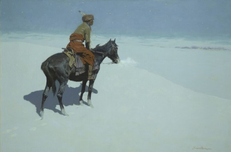 Frederic Remington, 'Friends or Foes? (The Scout)', 1902-1905