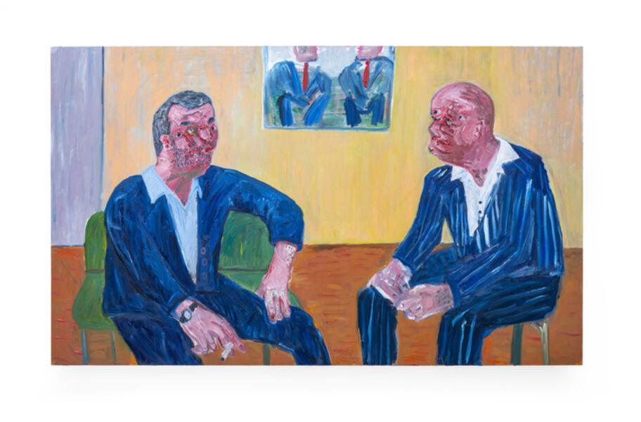 Georgina Gratrix, 'Art men (talking about art things)', 2019