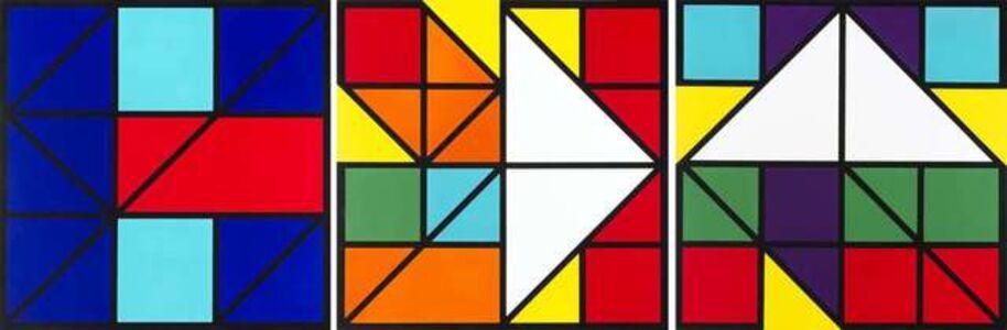 Mateo Manaure, 'Cuvisiones. Triptych', 1992