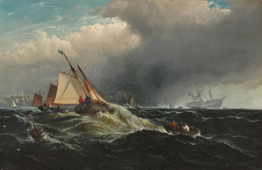 Edward Moran, 'Shipping off the coast ', 1829-1901