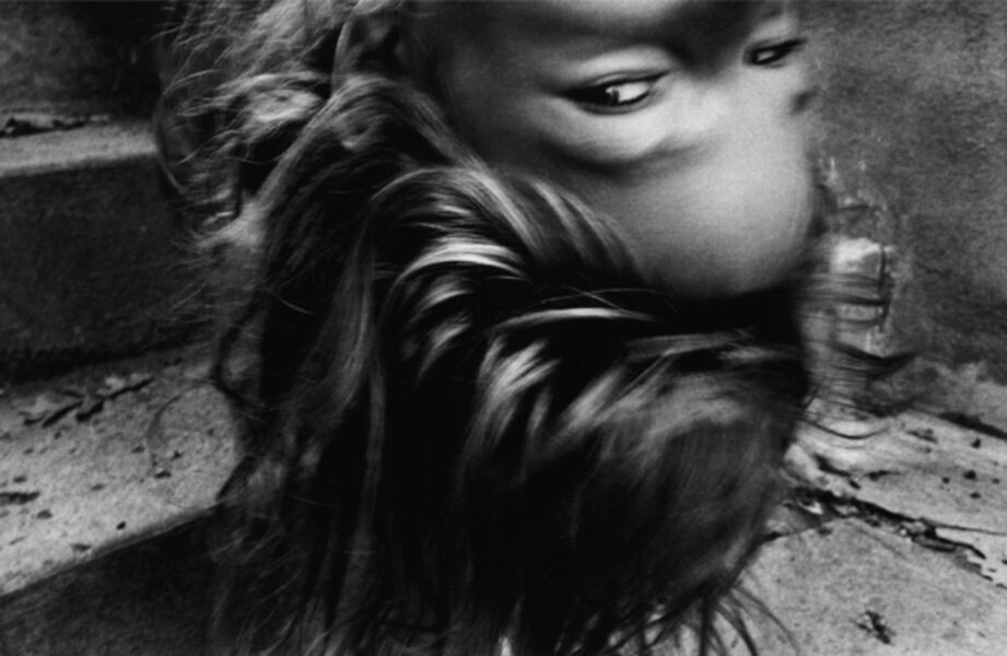"""Mark Cohen, 'Upside-Down Girl (""""The Day the Police Came""""), October', 1974"""
