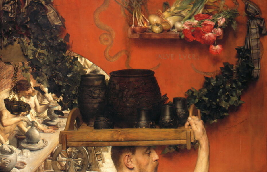 Sir Lawrence Alma-Tadema, 'The Roman Potters in Britain (Hadrian in England)', 1884