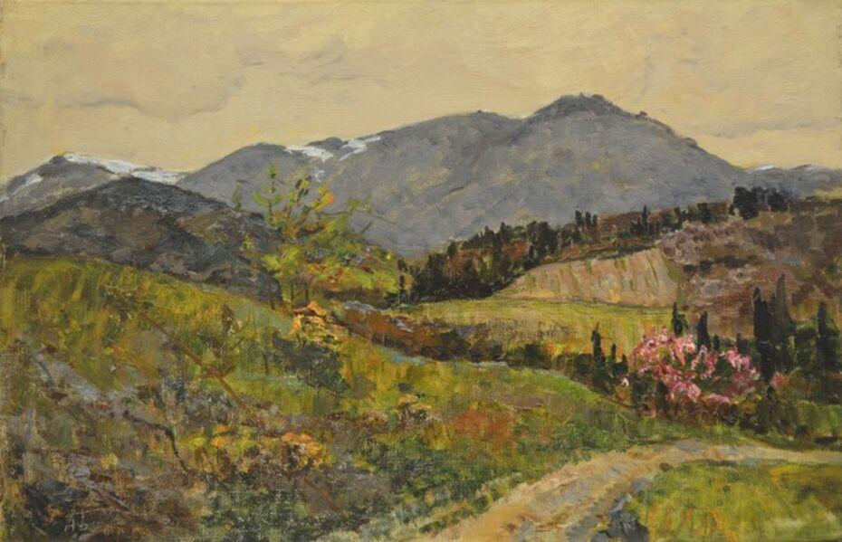 Aleksey Ivanovich Borodin, 'Mountains in Crimea', 1979
