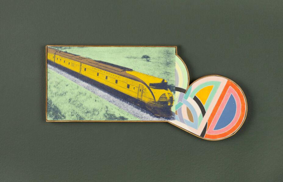 "Richard Pettibone, 'Union Pacific M-10001 and Frank Stella ""Hiraqla #5""', 1970"