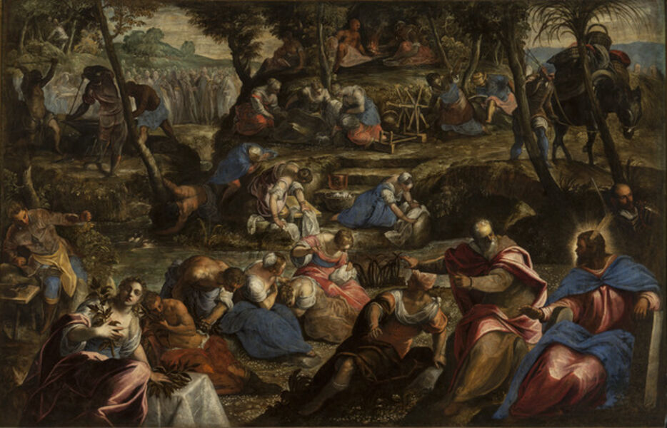 Jacopo Tintoretto, 'The Gathering of the Manna', 1590-1592